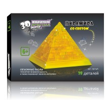 3D Crystal Puzzle Пирамида со светом 29014А