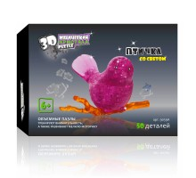 3D Crystal Puzzle Птичка на ветке 9059A